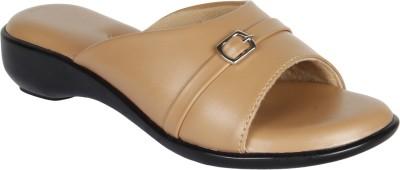 Niremo Beige Fancy Synthetic Leather Women Beige Flats