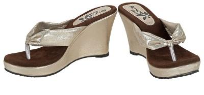 Amica Slexia Women Gold, Brown Wedges