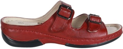 Action Shoes Women Red Flats