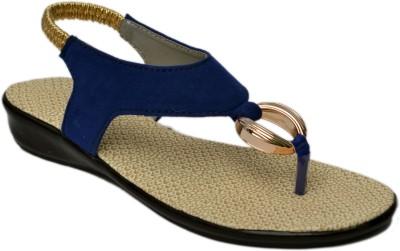 Belle Femme Women Blue Flats