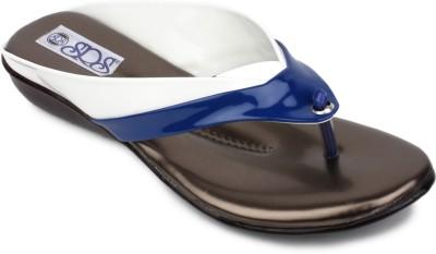 SRS Women White, Blue Flats