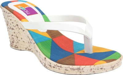 Tycoon Women White Wedges
