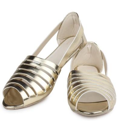 Shoetopia Women Gold Flats