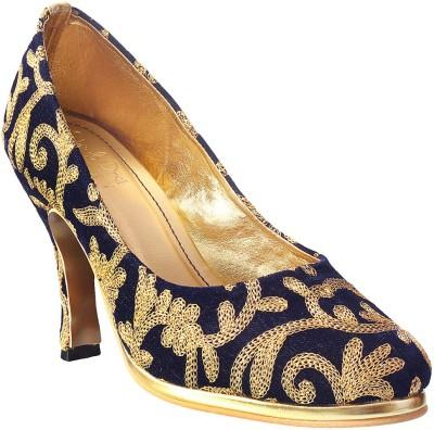 Siendo Desi Women Blue Heels