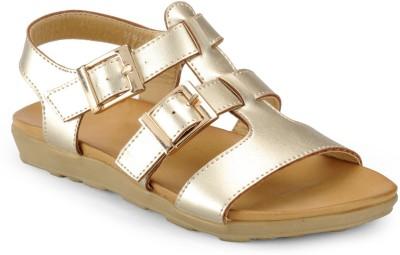 Aqua Women Gold Flats