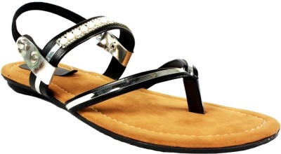 Scantia Girls Black, Brown Flats
