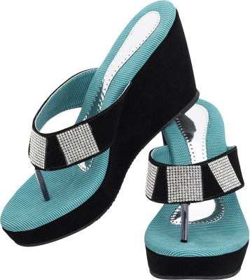 Fashion Victory Women Blue Wedges
