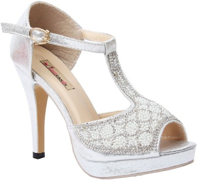 Foot Candy Women Silver Heels