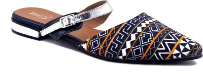 Zaera Women Silver Flats