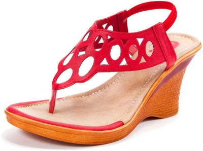 Beyond Women Red Wedges