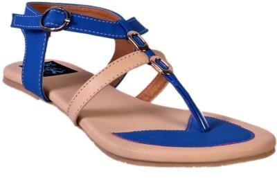 Jolly Jolla Women Blue, Beige Flats