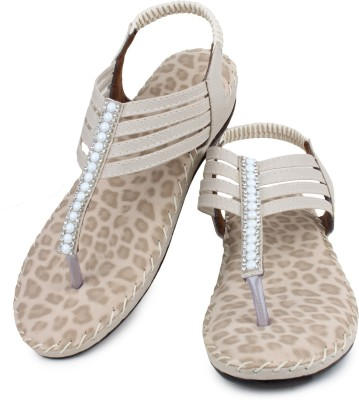 London Steps Women Beige Flats