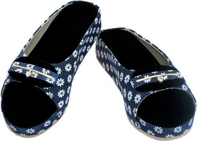 HITANSH INDIA Women Blue Heels
