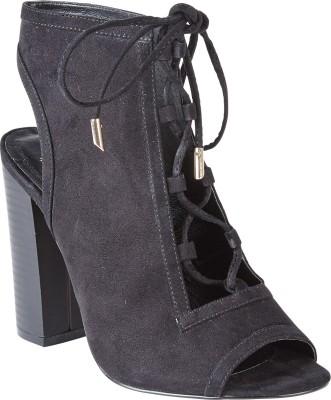 Truffle Collection Women Black Heels