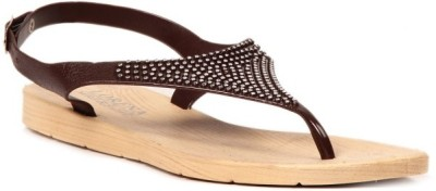 Ala Mode Women Brown Flats