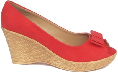 Spazzio Women Red Wedges