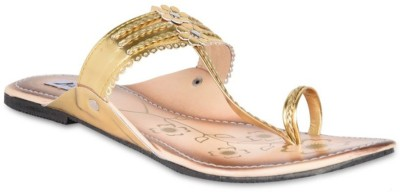 Hilly Toe Women Gold Sandals