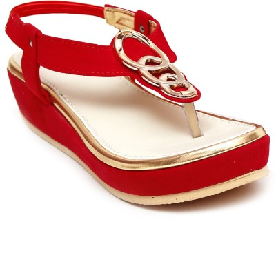 Zohra Collection Women Red Flats
