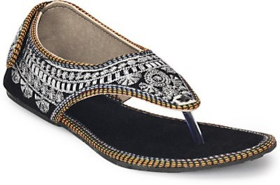 STEP INDIA Women Silver Flats