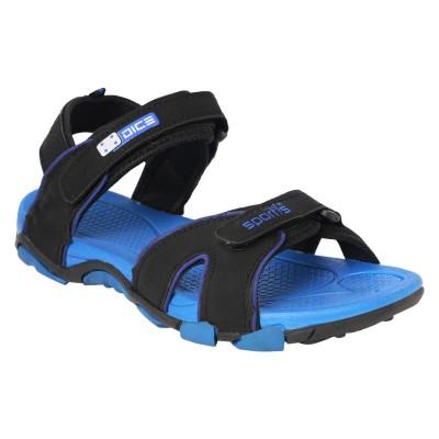 Dice Men Black, Blue Sandals