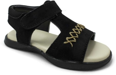 PHEDARUS Boys Black Sandals