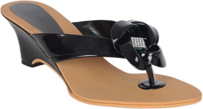 Aadi Women Black Wedges