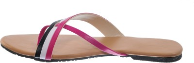 Cws Women Pink, White, Black Flats