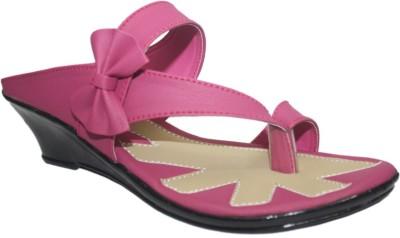 Supreme Leather Women Pink Heels