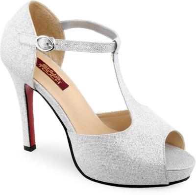 Shuz Touch Women Silver Heels