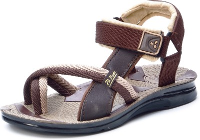 Pu-Rocks Men Beige, Brown Sandals