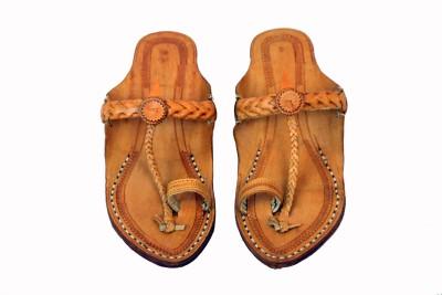 Traditional Kolhapuri Women Brown Flats