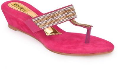 indirang Women Pink Wedges