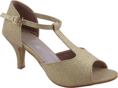 Adorn Elegant Women Gold Heels