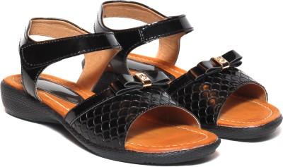 Craze Shop Girls Black Sandals