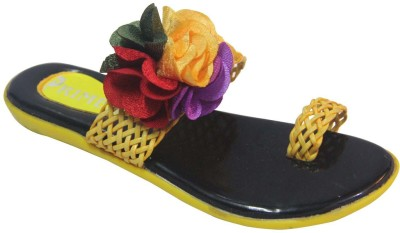 Primes Girls Yellow, Multicolor Sandals