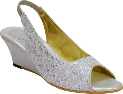 Apick Women Silver Wedges