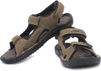 WeinBrenner Enjoy Men Olive, Black Sandals