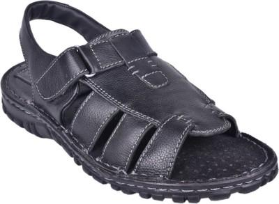 Papa Men Black Sandals