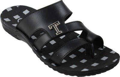 Toyto Men Black Sandals