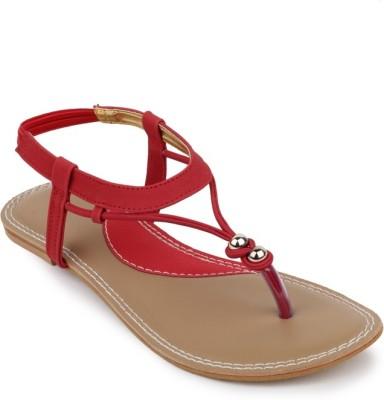 Foot Jewel Women Red Flats