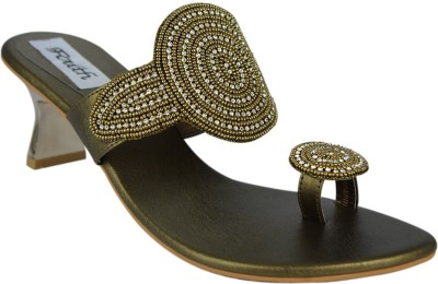 Faith Women Gold Heels