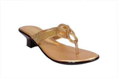 Studio 9 Zig Zag Partywear Women Gold Heels