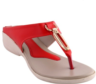 Themeunited Women Red Flats