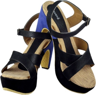 Canvera Women Black Heels