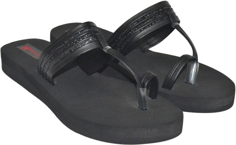 Health Line Women Black Flats