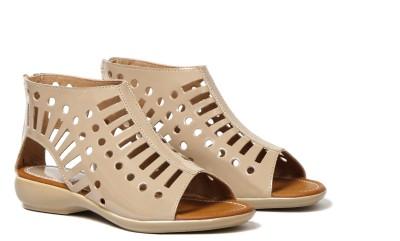 Craze Shop Girls Beige Sandals