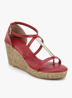 Addons Women Red Wedges
