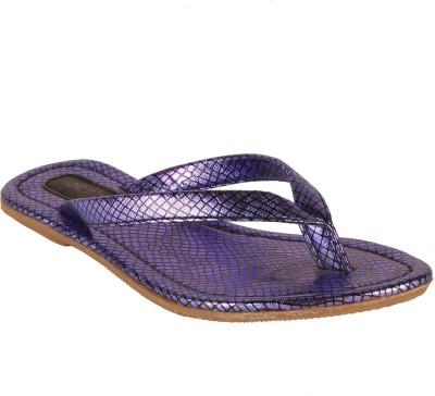 Salt N Pepper 05-001 Vallis Purple Patent Women Purple Flats