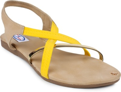 Runwalk Women Yellow Flats