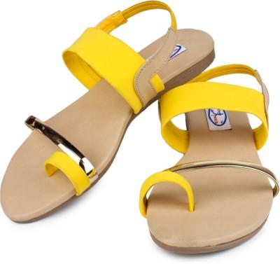 Runwalk Women Yellow Flats